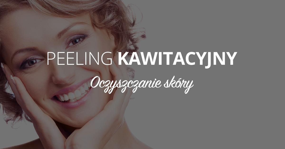 Oczyszczanie skóry peelingiem kawitacyjnym